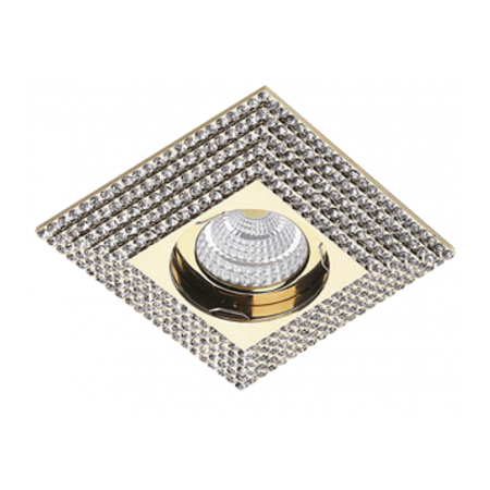 Svítidlo stropní podomítkové Piramide XL zlatá Azzardo NC1673SQ-G