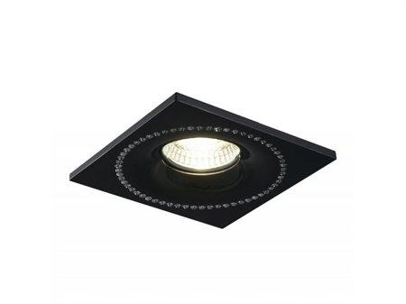 Svítidlo stropní podomítkové Simon hranaté černá chrom Azzardo NC1767SQ-BK/CH