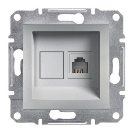 Telefonní zásuvka bez rámečku, hliník Schneider Electric Asfora EPH4100161