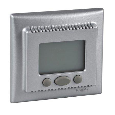 Teplotní regulátor s funkcí komfort hliník Sedna SDN6000260 Schneider Electric