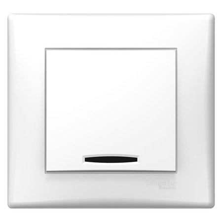Tlačítko s podsvícením bílá s rámečkem Sedna SDN1600221 Schneider Electric