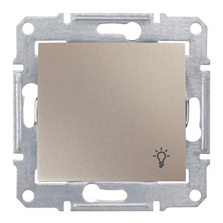 """Tlačítko """"světlo"""" IP44 saténová Sedna SDN0900368 Schneider Electric"""