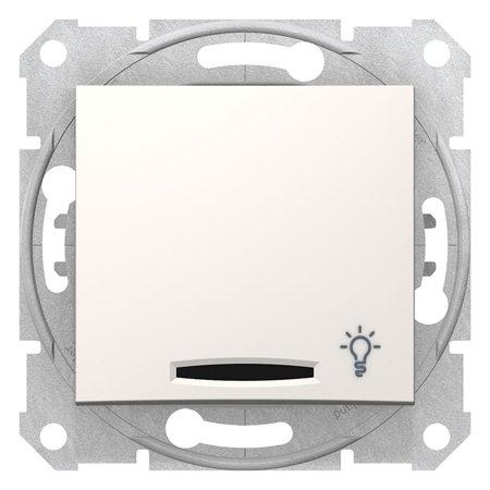 """Tlačítko """"světlo"""" s podsvícením krémová Sedna SDN1800123 Schneider Electric"""