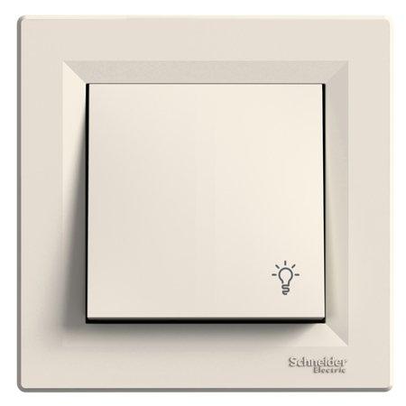 Tlačítko světlo s rámečkem, krémová Schneider Electric Asfora EPH0900123