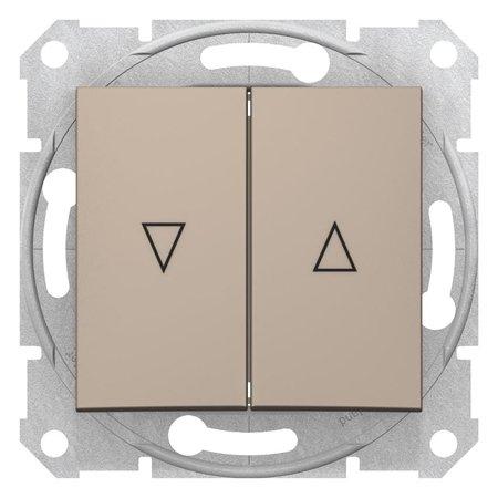 Tlačítko žaluziové saténová Sedna SDN1300168 Schneider Electric