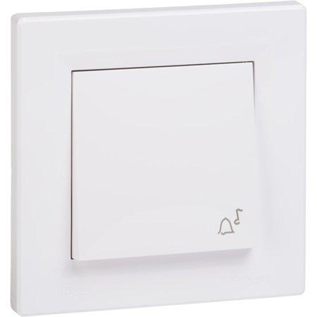 Tlačítko zvonek IP44 s rámečkem, bílá Schneider Electric Asfora EPH0800221