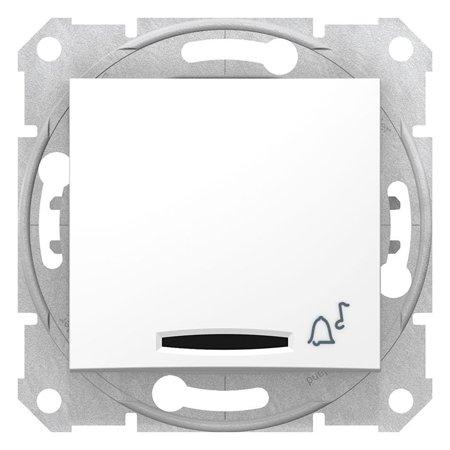 """Tlačítko """"zvonek"""" s podsvícením bílá Sedna SDN1600421 Schneider Electric"""