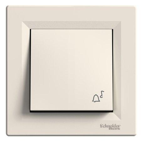 Tlačítko zvonek s rámečkem, krémová Schneider Electric Asfora EPH0800123