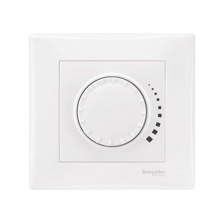 Tlačítkový - otočný stmívač bílá s rámečkem Sedna SDN2290721 Schneider Electric