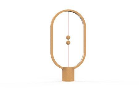 Unikalna lampa z lewitującym wyłącznikiem  Heng Balance Lamp Ellipse - jasne drewno Allocacoc