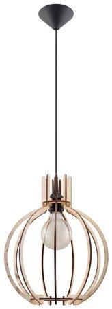 Visící lampa ARANCIA přírodní dřevo 1xE27 Sollux SL.0391