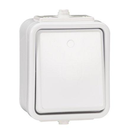 Vypínač 1-pólový IP44 bílá Cedar Schneider Electric WNT100C01