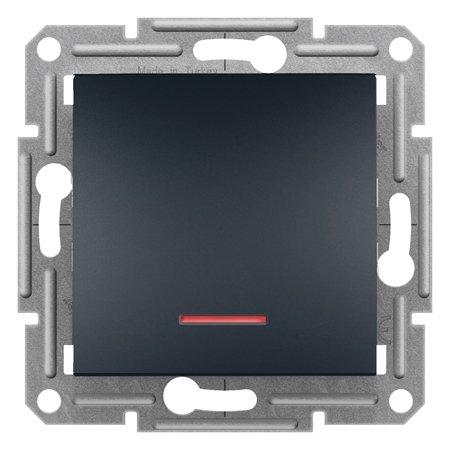 Vypínač 1-pólový s podsvícením (16A) bez rámečku, antr Schneider Electric Asfora EPH1430371