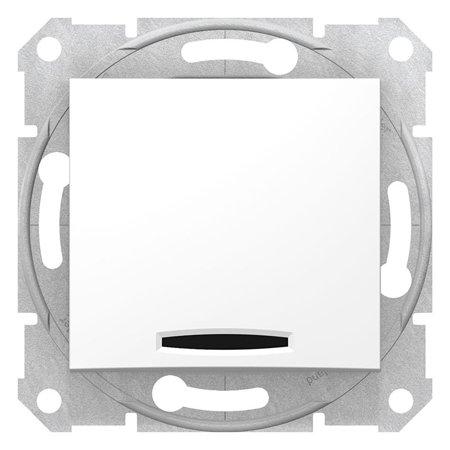 Vypínač 1-pólový se signalizací zapnutí bílá Sedna SDN0400321 Schneider Electric