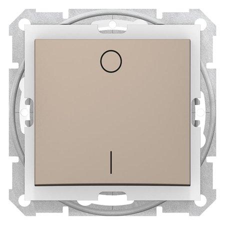 Vypínač 2-pólový IP44 saténová Sedna SDN0200368 Schneider Electric
