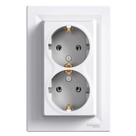 ZÁSUVKA 2X2P+PE SCHUKO, BÍLÁ (DIY) Schneider Electric Asfora EPH9901121