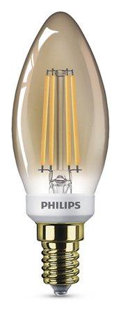 Žárovka LED Philips E14 2500K 5W = 35W GOLD svíčka stmívatelná 8718696750742