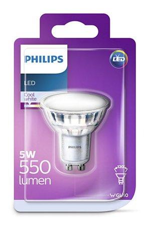 Žárovka LED Philips GU10 4000K 5W reflektor 8718696750377