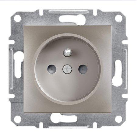 Zásuvka 2P+PE s clonami bez rámečku, hnědá Schneider Electric Asfora EPH2800269