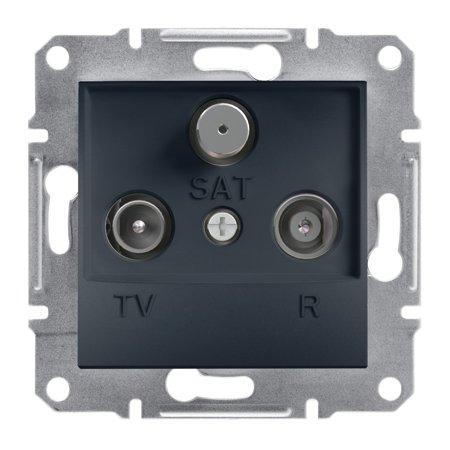Zásuvka R-TV-SAT průchozí (4dB) bez rámečku, antr Schneider Electric Asfora EPH3500271