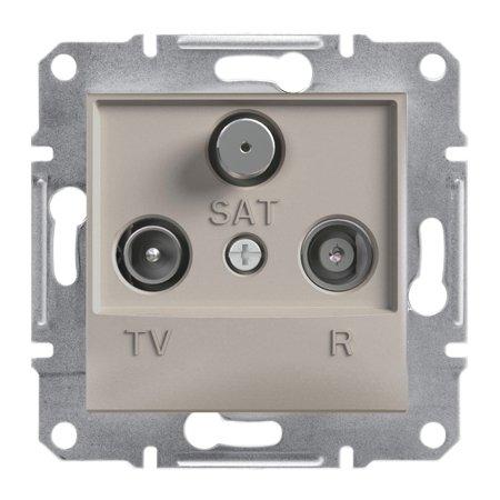 Zásuvka R-TV-SAT průchozí (8dB) bez rámečku, hnědá Schneider Electric Asfora EPH3500369