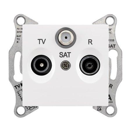 Zásuvka R/TV/SAT průchozí 8dB bílá Sedna SDN3501221 Schneider Electric