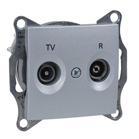 Zásuvka R/TV průchozí 8dB hliník Sedna SDN3301360 Schneider Electric