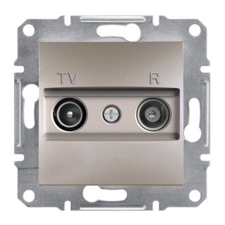 Zásuvka RTV koncová bez rámečku, hnědá Schneider Electric Asfora EPH3300169
