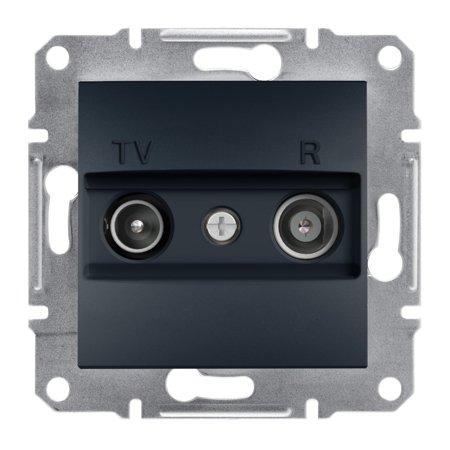 Zásuvka RTV průchozí (8dB) bez rámečku, antracit Schneider Electric Asfora EPH3300371