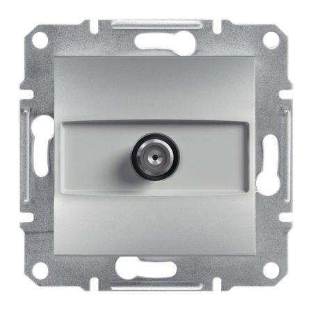 Zásuvka SAT průchozí bez rámečku, hliník Schneider Electric Asfora EPH3700261