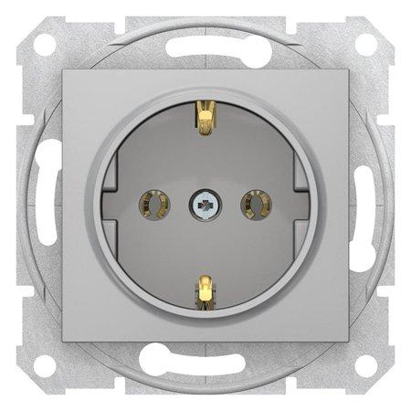 Zásuvka SCHUKO hliník Sedna SDN3001860 Schneider Electric