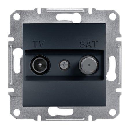 Zásuvka TV-SAT průchozí (4dB) bez rámečku, antr Schneider Electric Asfora EPH3400271