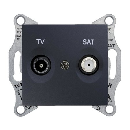 Zásuvka TV/SAT průchozí 8dB, grafitová Sedna SDN3401270 Schneider Electric