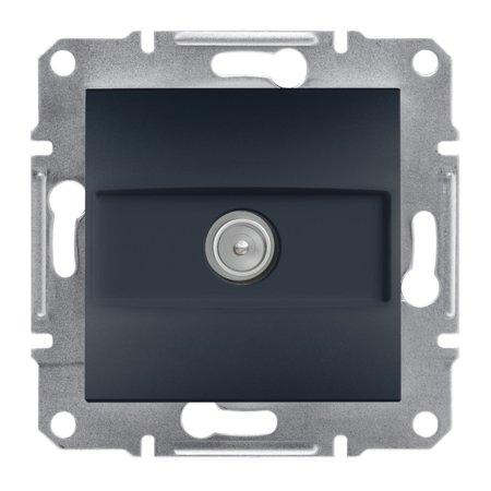 Zásuvka TV průchozí (4dB) bez rámečku, antracit Schneider Electric Asfora EPH3200271