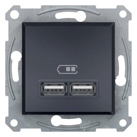 Zásuvka nabíječky USB 2.1A bez rámečku, antracit Schneider Electric Asfora EPH2700271