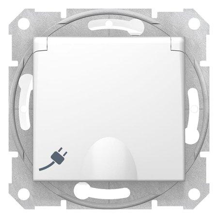 Zásuvka schuko IP44, bílá Sedna SDN3100321 Schneider Electric