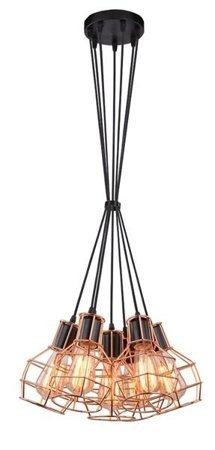 Závěsná lampa Carron 7 měď Azzardo MD50148-7