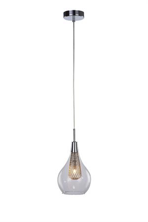 Závěsná lampa Elektra 1 chrom Azzardo MD15002028-1A