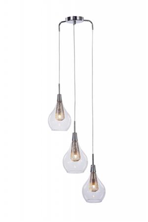 Závěsná lampa Elektra 3 chrom Azzardo MD15002028-3A