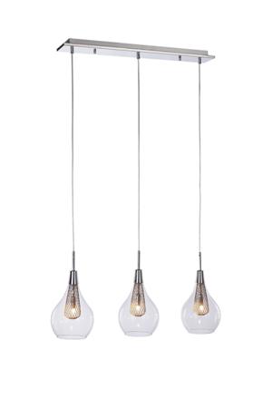 Závěsná lampa Elektra 3 line chrom Azzardo MD15002028-3LN