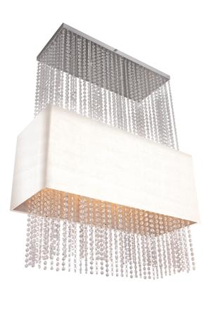Závěsná lampa Glamour obdelníková bílá Azzardo 101163 SP5 WH