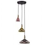 Závěsná lampa Ida MIX stříbrná zlatá měď Azzardo 4293-3A
