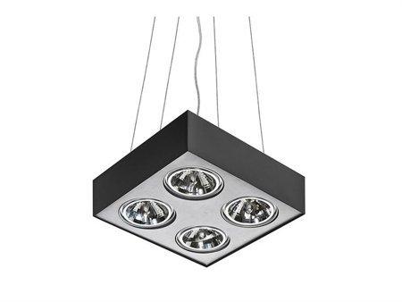 Závěsná lampa Paulo 4 230V LED 7W černá hliník Azzardo GM5400