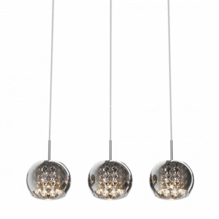 Závěsná lampa lišta stříbrná transparentní 3xG9 Zuma Line Crystal Pendant P0076-03N-B5FZ