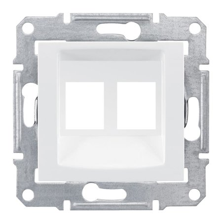 deska do 2xRJ45: AMP, MOLEX bílá Sedna SDN4400621 Schneider Electric