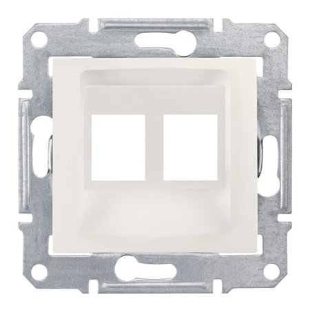 deska do 2xRJ45: AMP, MOLEX krémová Sedna SDN4400623 Schneider Electric