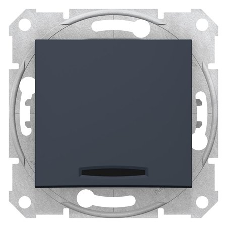 schodišťový vypínač s podsvícením, 16A grafitová Sedna SDN1500270 Schneider Electric